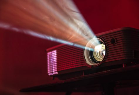 A close up photo of a projector